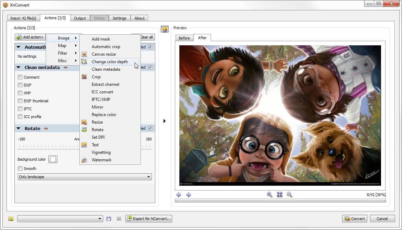 Captura de pantalla XnConvert