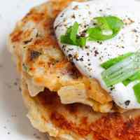 Mashed Potato Patties with Cheese and Onion