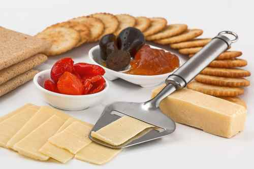 A delicious selection of cheese.