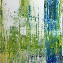 Na beira da terra (Acrylic on canvas, 69x32 cm)