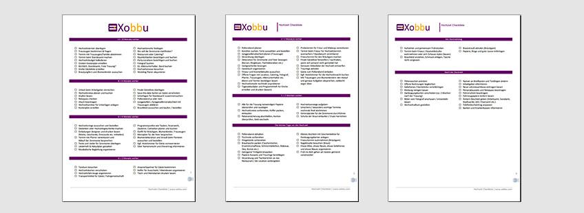 Checkliste Hochzeit  PDF  Excel  Vorbereitung