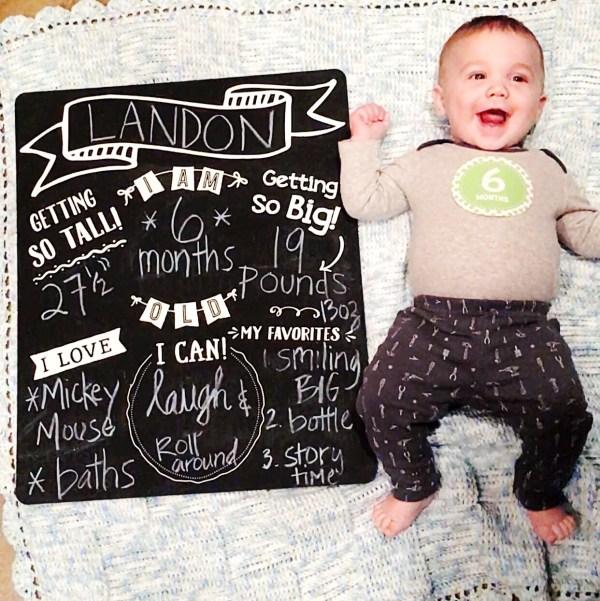 Landon six months
