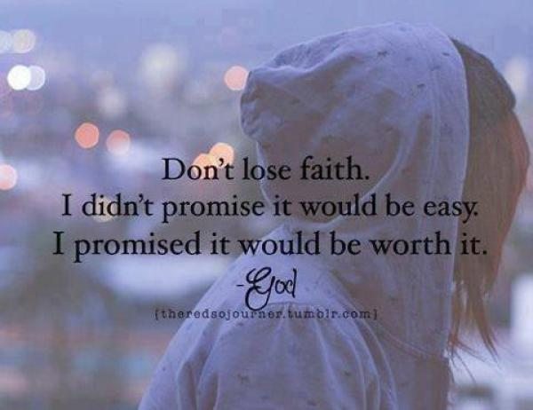 don't lose faith