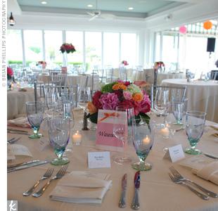 Pink Floral Centerpieces