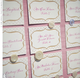 Letterpress Escort Cards