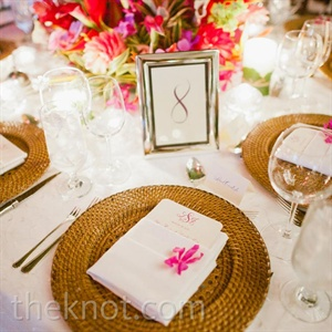 Tropical-Themed Place Settings