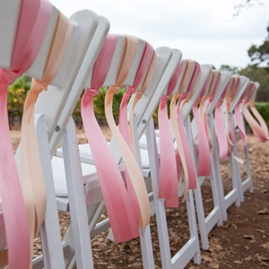 Ribbon-Tied White Chairs