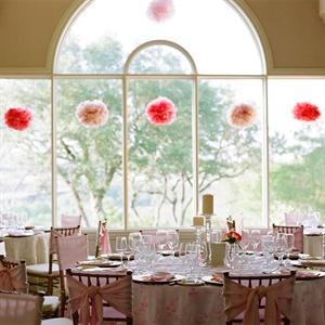 Pink Pom Reception Decor