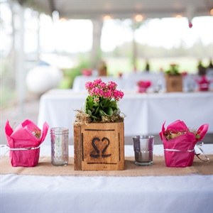 Tables Set with Pink Decor
