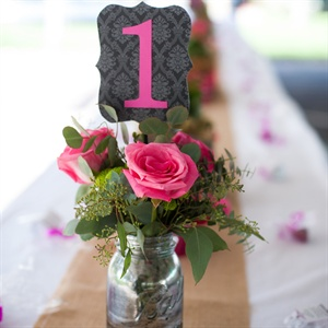 Glam Black and Pink Table Names