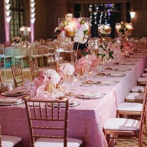 Glam Pink Reception Decor