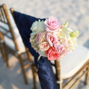 Pastel Pink Floral Aisle Markers