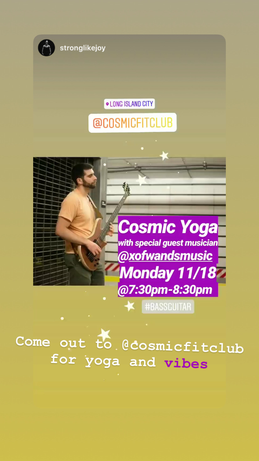 cosmic fit club yoga with x of wands music - November 18, 2019