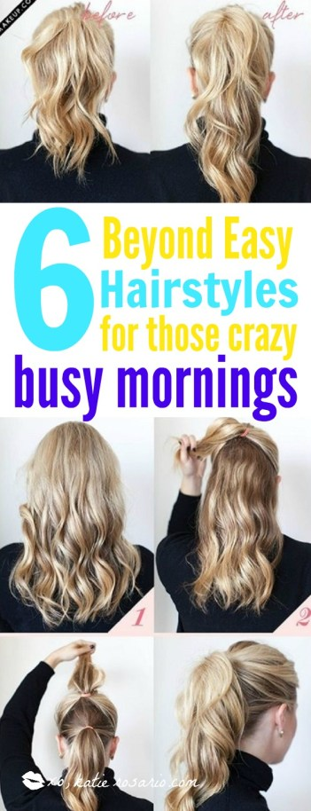 5 minute hairstyles office busy mornings hair hacks for busy moms life