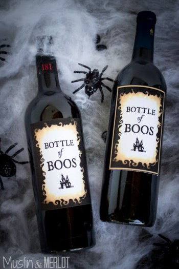 diy decor for halloween wine bottle printables