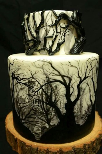 18 Hauntingly Beautiful Halloween Cake Ideas: Halloween is here! Omg! I love this holiday especially for cake decorating! Are you lacking inspiration for a Halloween cake? Cake design can be just as important as the taste of the cake and Halloween is approaching fast.This guide is a perfect collection of design ideas for beginner cake decorators to the advanced ones. When you are ready to make your own spooky or hauntingly beautiful cake you need this guide! Highly recommended!