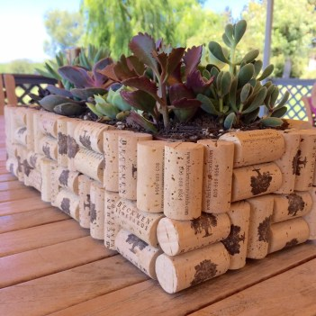 DIY wine cork dollar store planter box. 12 diy wine cork crafts. Where are all my fellow wine lovers at?! This is amazing! I love this craft idea. Turn wine corks into awesome DIY crafts, home decor and gift ideas. This is so cool! I love it! Perfect for wine lovers! Pinning for later!