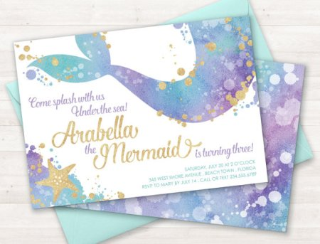 Mermaid Birthday Party Custom Etsy Invitations Who Doesnt Love Mermaids This