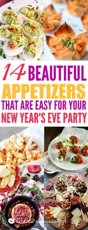14 New Year's Eve Party Appetizers You Want and Need: The New Year is upon us and I love celebrating it! I am so excited for my #NYE party because these easy appetizers are everything! I love how simple they are and flavors everyone knows. I hate it when I have to be in the kitchen all day and not enjoy myself with my guests. These easy New Year's Eve appetizers will make for a great party! Can't wait pinning for later!