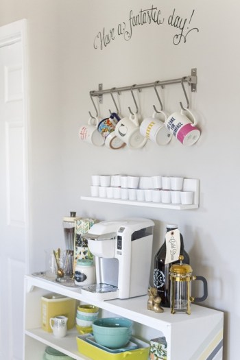 7 DIY Coffee Station Hacks That Will Step Up Your Coffee Game: I love coffee and I am embarrassed to say that I spend a lot at Starbucks because of it! This is exactly what I need. I love these DIY coffee stations. I would much rather spend $50 on building a new coffee bar than on a few cups of coffee. This is so simple I can't believe I didn't think about it before! Create your own coffee station that has everything you need in one place except for the milk lol! I love having extra counter space too! Making it now!