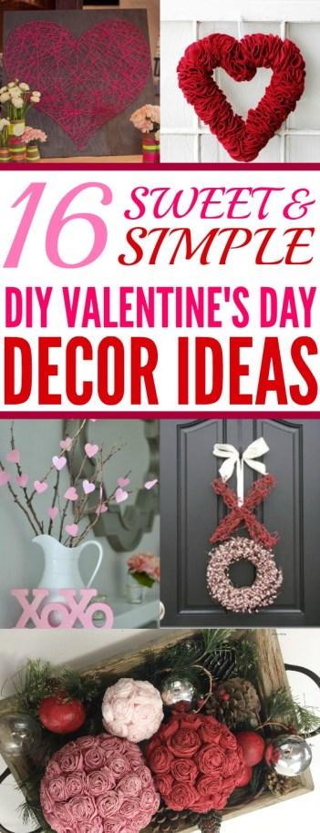 16 Sweet & Simple DIY Valentine's Day Décor Ideas - xo ...