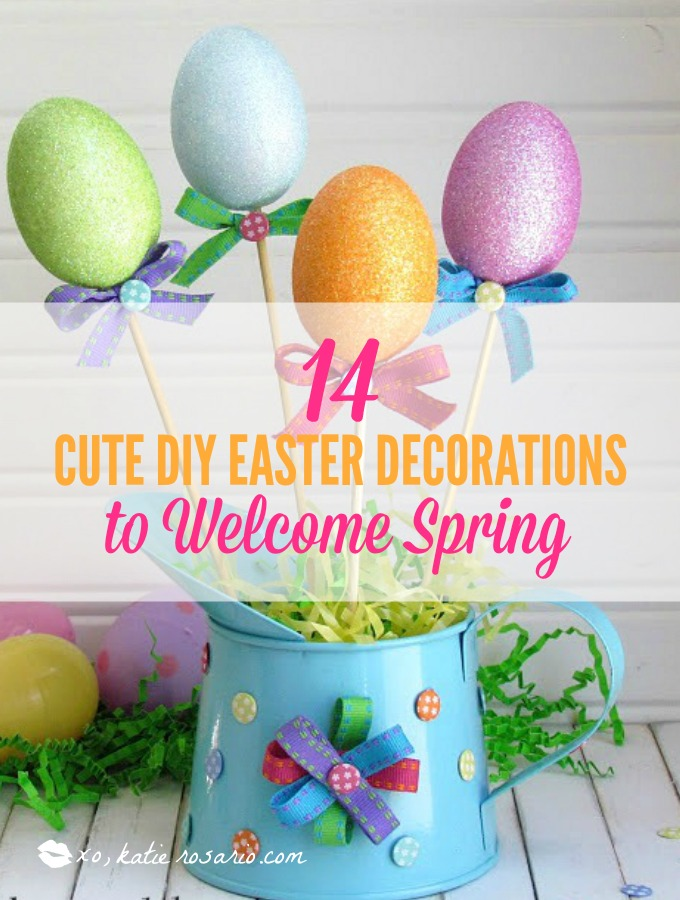 14 Cute DIY Easter Decorations To Welcome Spring