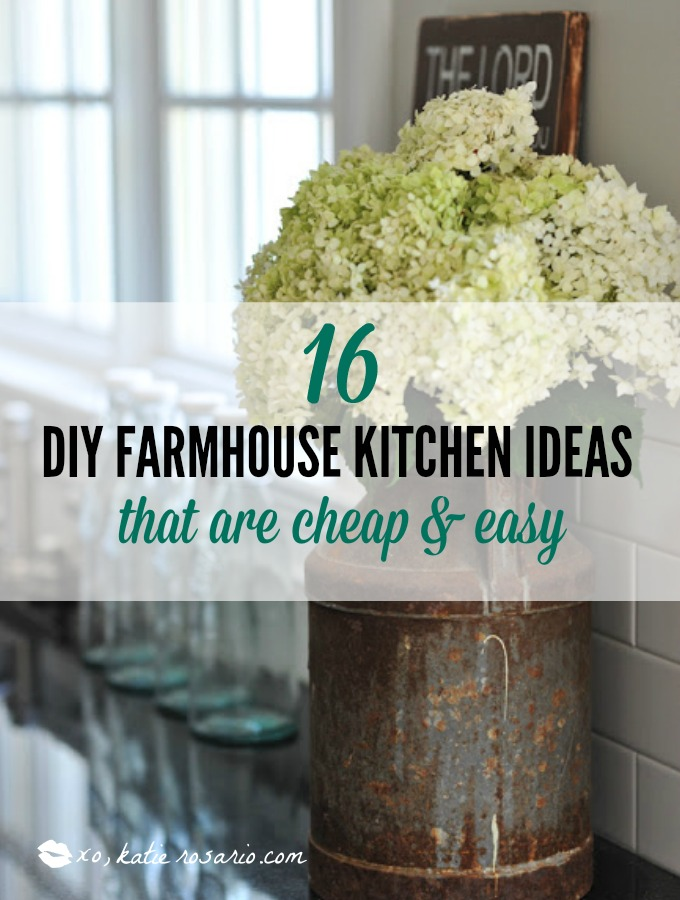 kitchen decor cheap home depot light fixtures 16 diy farmhouse ideas that are and easy xo katie i am obsessed with these fixer upper they so