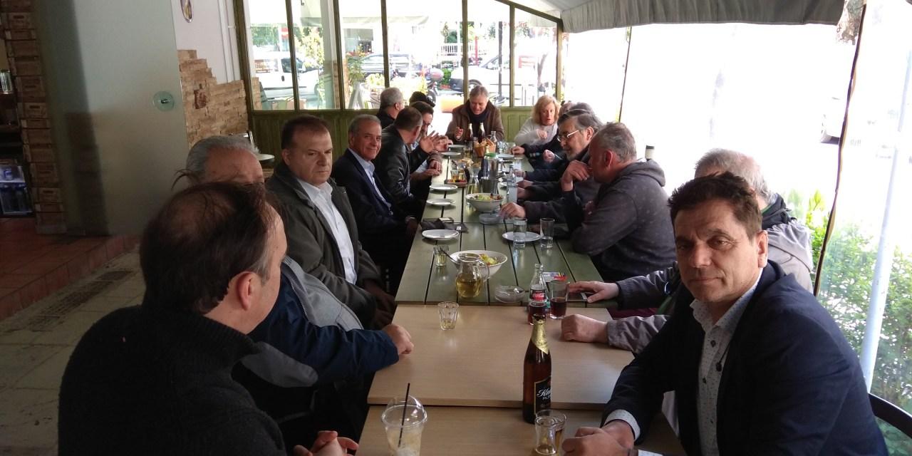 Ο υποψήφιος Δήμαρχος Χολαργού Παπάγου Νικήτας Κανάκης στον Άνω  Χολαργό