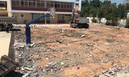 Ανακατασκευή του προαύλιου χώρου του 1ου Δημοτικού Σχολείου Παπάγου