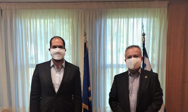 Συνάντηση Δημάρχου Ηλία Αποστολόπουλου με τον Υφυπουργό Μεταφορών και Υποδομών Ιωάννη Κεφαλογιάννη
