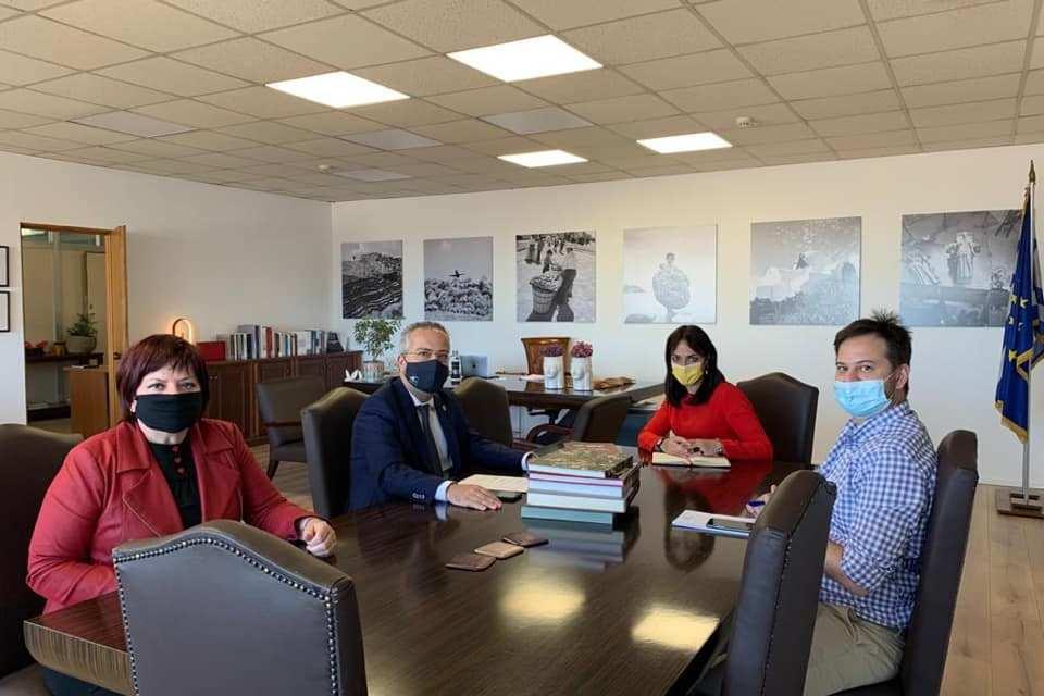 Συνάντηση Δημάρχου Παπάγου – Χολαργού με την Υφυπουργό Εργασίας Δόμνα Μιχαηλίδου