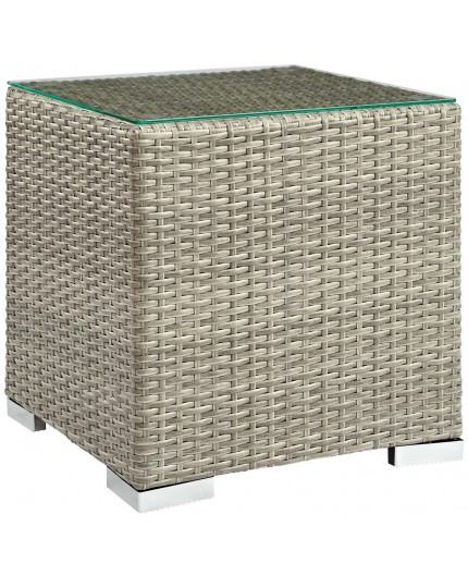modway eei 2692 lgr repose outdoor patio side table in light gray