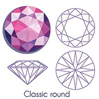 Classic round shape