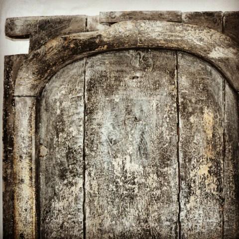Old old wooden door
