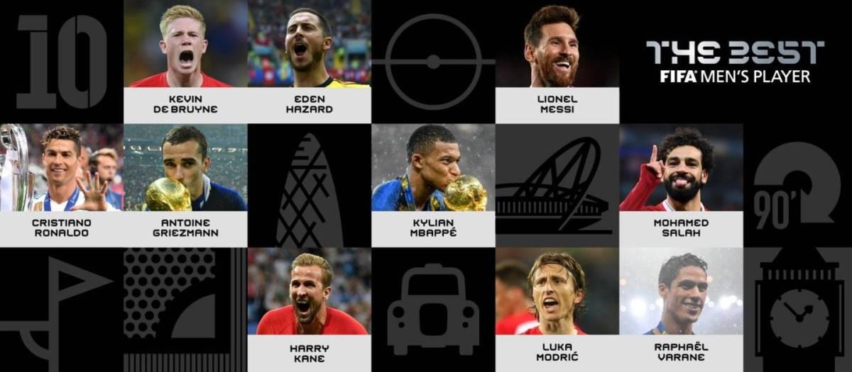 Os dez candidatos o balón de ouro (The best) 2018