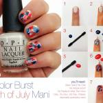 OPI 4th of July Fireworks Mani How to Tutorial