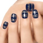 Essie Tutorial: Gold Studded Nails How To