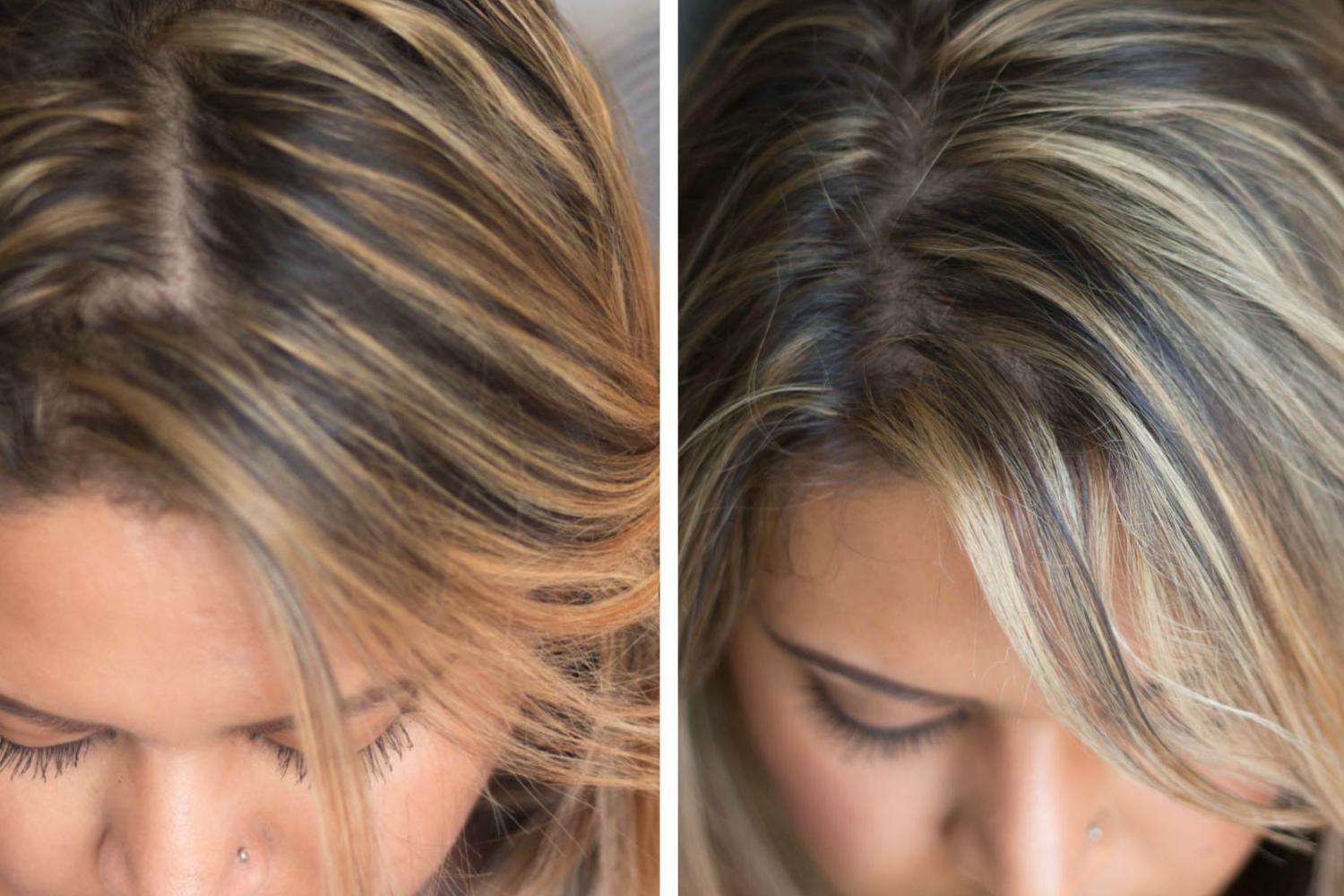 How to Tone Brassy Hair at Home - Wella T14 and Wella T18