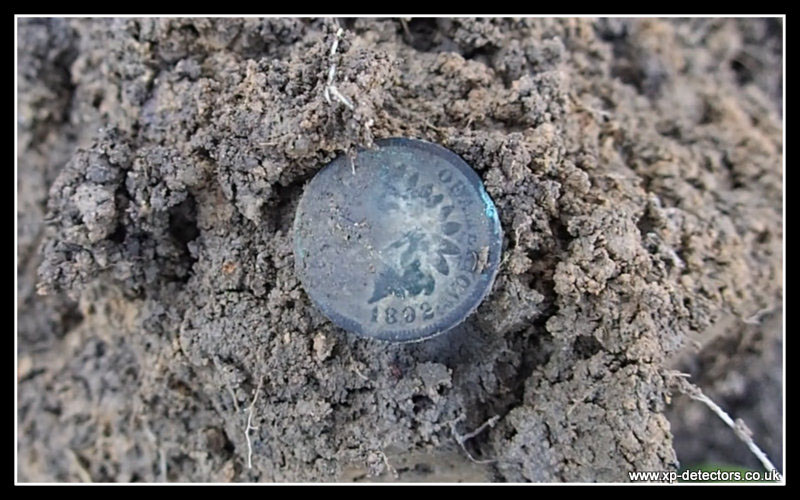 1892 indian penny found with the Deus