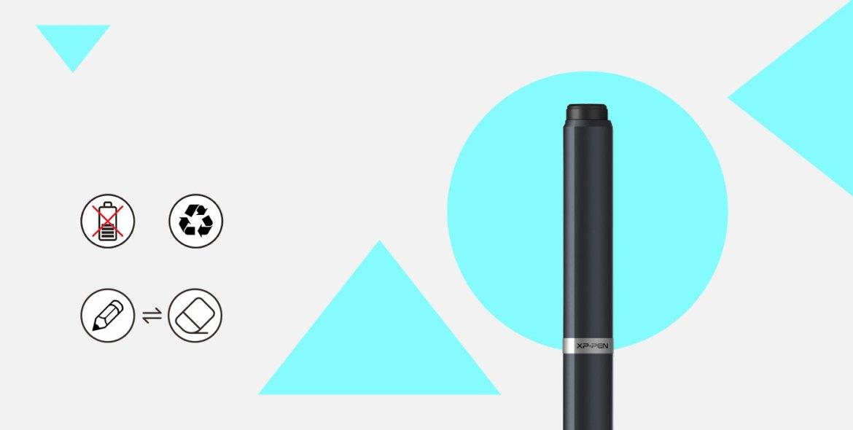 A Deco 01 digitális művészeti tábla A-elem nélküli tollal rendelkezik