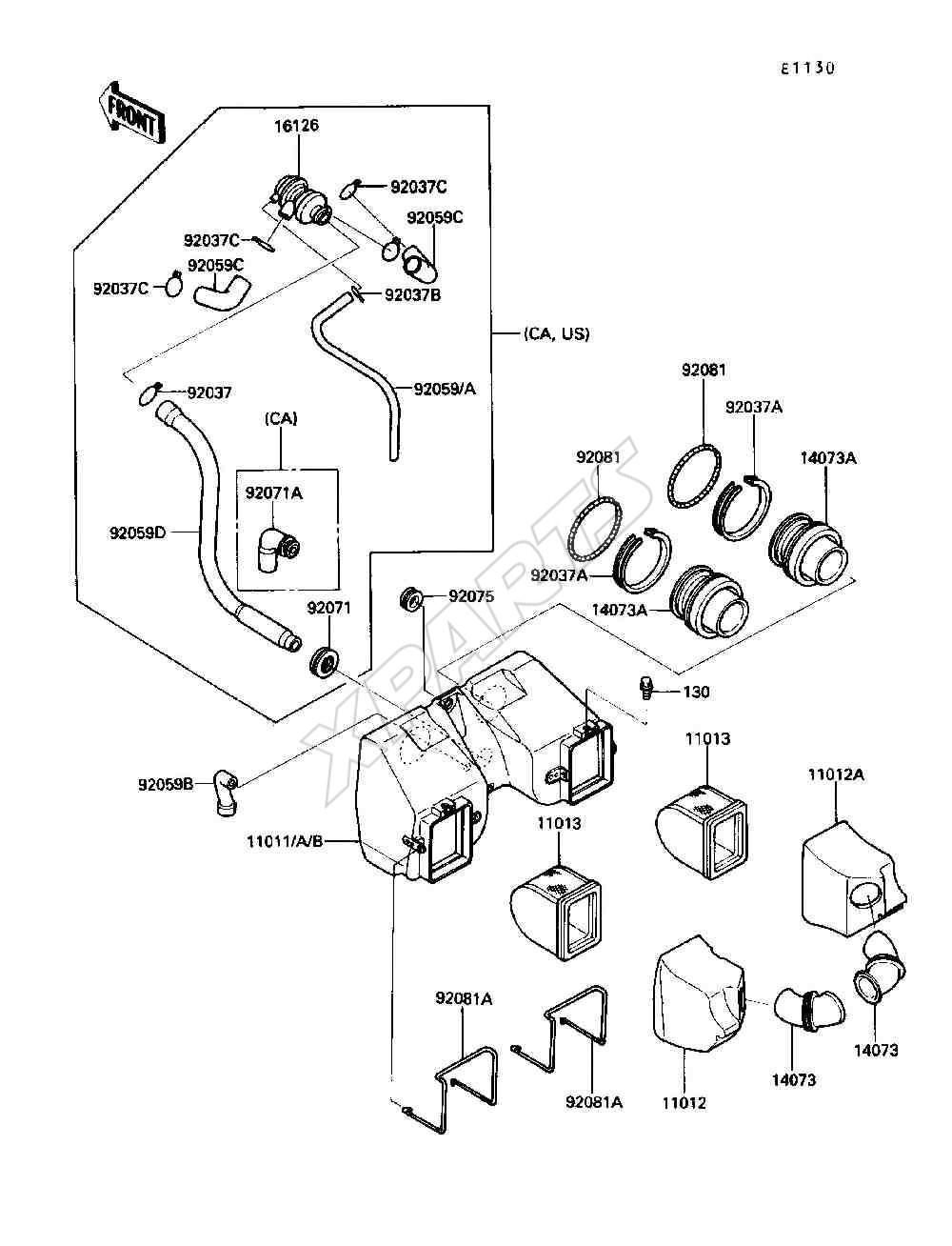 medium resolution of kawasaki motorcycle wiring diagrams kawasaki billede til varegruppe air cleaner