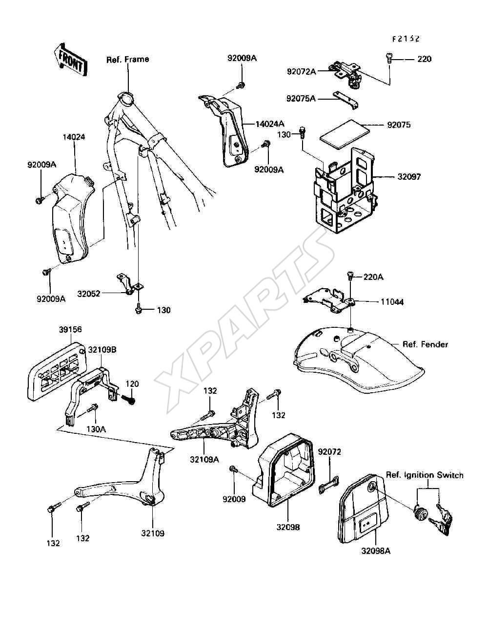 Kawasaki 454 LTD (EN450-A6) Battery Case (1990)