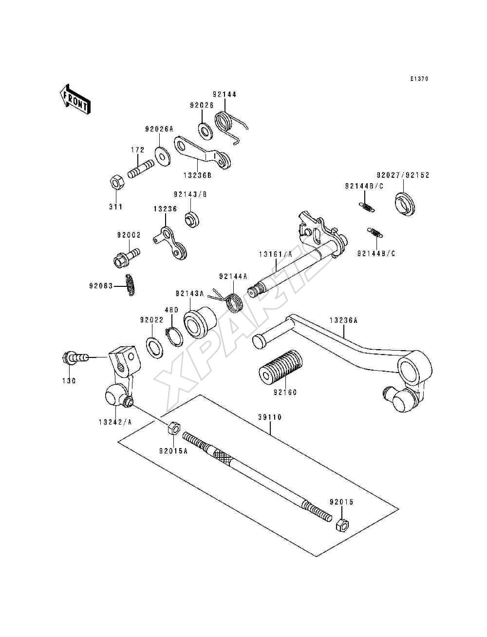 Kawasaki Ninja ZX-9R (ZX900-B1) Gear Change Mechanism