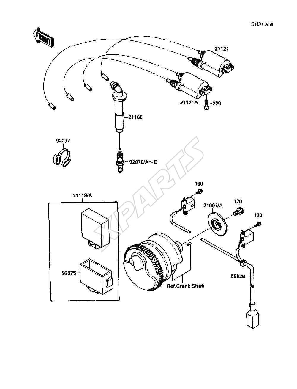 Kawasaki Ninja 750R (ZX750-F2) Ignition System (1988