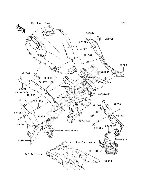 Kawasaki Versys (European) (KLE650-A8F) fra 2008