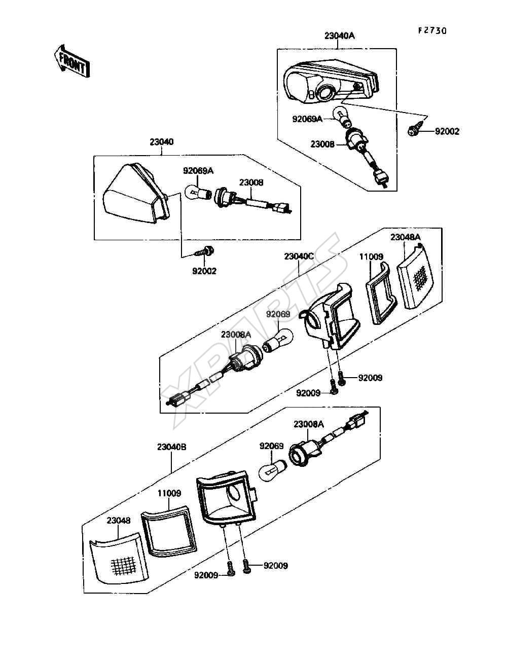 Kawasaki Ninja ZX-10 (ZX1000-B3) Turn Signals (1990)