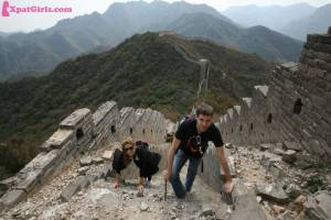 First time hiking at The Great Wall of China (Credit: Boaz Arad)