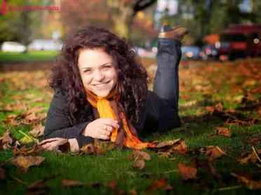 Fooling around in the park last autumn