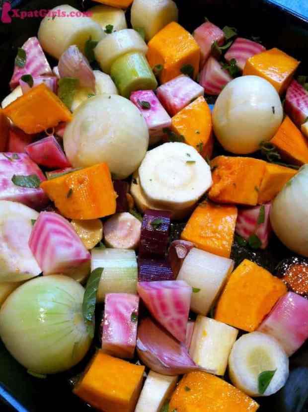 Lots of veg I love