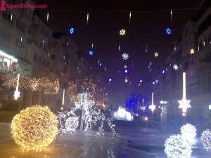 Winter decoration in Craiova, my hometown. Everybody says: fairytale!